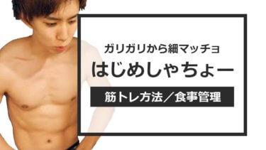 はじめしゃちょーのかっこいい筋肉体質【細マッチョになる方法】